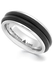 rubber wedding band proposition cobalt and rubber accent wedding band rings