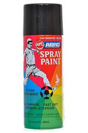 abro abs4 color spray paint 400 ml matt black amazon in car