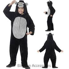 Gorilla Halloween Costume Ck828 Gorilla Costume Jumpsuit Wild Zoo Animal Kids Girls Boys