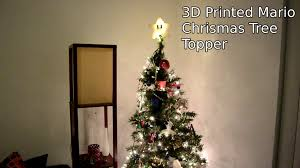 3d printed super mario star christmas tree topper with led lights