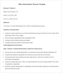 web administration sle resume 19 office administrator template