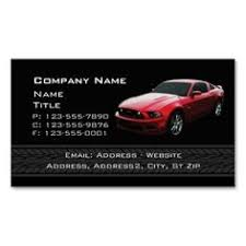 mustang auto shop auto sales and service business card auto sales business cards