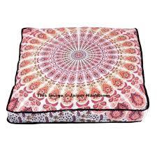 Ottoman Pillows Boho Mandala Indian Ottoman Outdoor Poufs Cover Square Floor Pillows