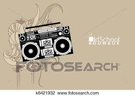 clipart of old boombox k6421932 search clip art