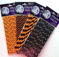 Black Halloween Cake by 15 Pc Paper Party Straws Orange U0026 Black Halloween Cake Pops Candy