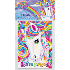 Birthday Invitation Card Maker Lisa Frank Rainbow Majesty Invitations 8pk Walmart Com