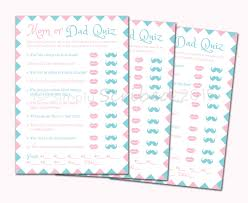 Halloween Quiz For Kids Printable by Printable Baby Shower Game Mom Or Dad Trivia Lips And