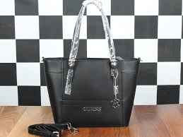 Tas Guess collectionbatam tas guess delaney classic tote hitam semi premium