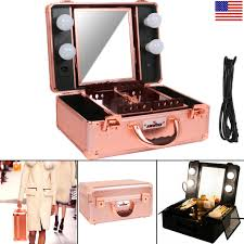 Make Up Vanity Case Lighted Makeup Case Ebay