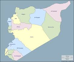 Damascus Syria Map The 14 Governorates Of Syria Eurasian Geopolitics