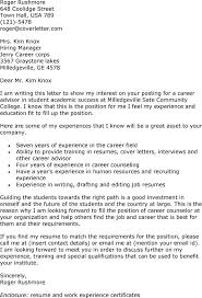 bunch ideas of sample community college teaching cover letter for