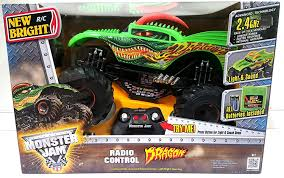 rc monster jam trucks amazon com new bright monster jam radio control dragon rc 2 4 ghz