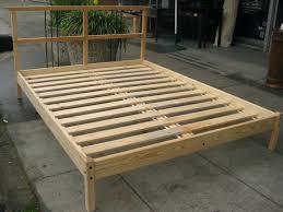 handy living queen wood slat bed frame instructions wooden black