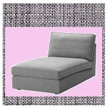 ikea kivik chaise lounge slipcover cover only isunda gray grey ebay