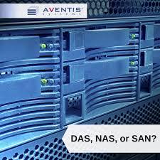 data storage solutions das vs nas vs san storage aventis systems
