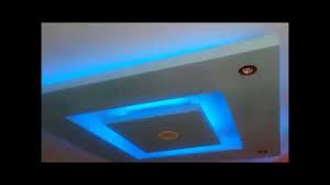 Les Faux Plafond En Platre by Decoration Faux Plafond Avec Led Alger Youtube