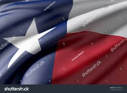 State Flag Of Texas 3d Rendering Texas State Flag Waving Stock Illustration 593805263
