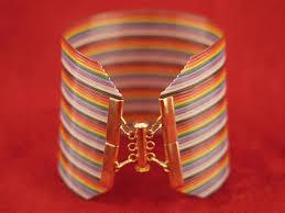 computer rainbow ribbon wire bracelets lumen electronic jewelry