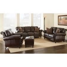 chateau 3 piece leather sofa set antique chocolate brown dcg