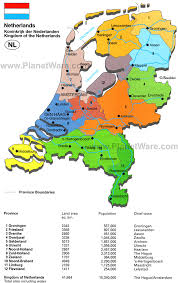 netherlands map map of kingdom of the netherlands planetware