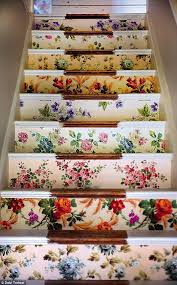 wallpaper stairs by sarah moore vintage from her gorgeous book