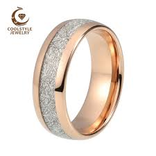 wedding band recommendations online shop 8mm imitated meteorite tungsten wedding ring domed