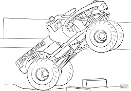 bulldozer monster truck coloring page free printable coloring pages
