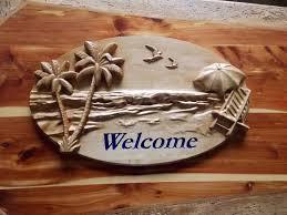 beach welcome sign beach decor lake house decor cottage