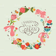 happy easter cards happy easter card stock vector more images of animal
