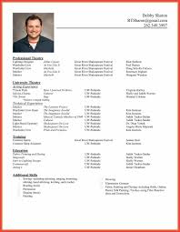 cv standard format resume standard format example resume layout resume examples and