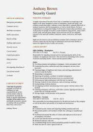 good security guard resume sample u2013 resume template for free