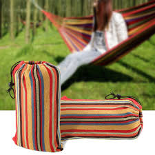 portable hammock cotton outdoor travel swing camping hanging