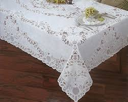 lace vinyl table covers amazon com crochet lace vinyl tablecloth 60 inch by 90 inch oblong