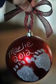 diy footprint ornaments a gift