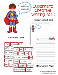 printable writing paper for 2nd grade superhero creative writing printable pack i printed our word cards on card stock then laminated them