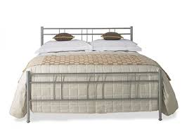 original bedstead milano glossy silver bed frame bedsdirectuk net