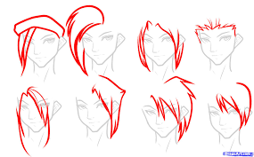 how to draw anime long hair step by step drawing art u0026 skethes