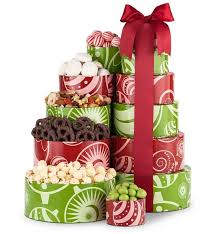 gift towers happy holidays gift tower gift towers chocolate covered