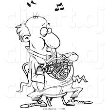 french horn free colouring pages kitty christmas coloring