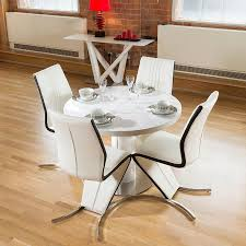 dining set white gloss round 1 05 1 35 extending table plus four