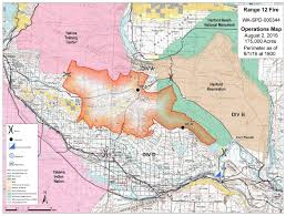Blm Lightning Map Range 12 Fire Doubles In Size To 175 000 Acres Weather Conditions