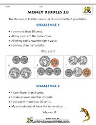 Images Of Math Worksheets Money Math Worksheets Money Riddles
