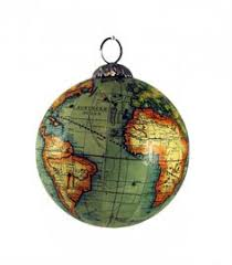world globe tree ornaments globe decoration and ornament