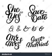 wedding quotes calligraphy set written lettering wedding quotes stock vector 551017366