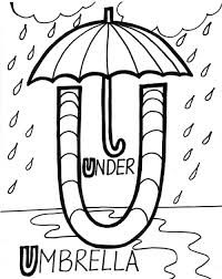 under umbrella alphabet coloring pages free alphabet coloring