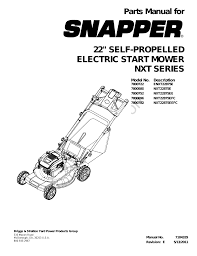 briggs u0026 stratton snapper 7800722 user manual 24 pages also