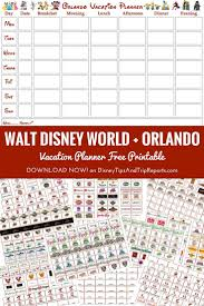 trip planner template best 25 vacation planner ideas only on pinterest disney planner free printable walt disney world orlando vacation planner week to view calendar