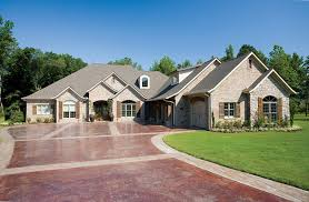 luxury one story homes french country stone brick homes luxurious one story home house