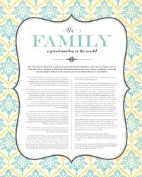 family proclamation the family a proclamation to the world free lds printable it s