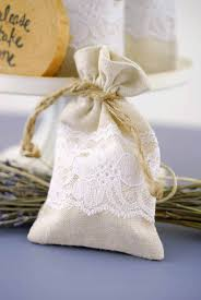favor bag linen lace 3x5 wedding favor bags